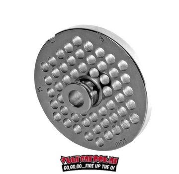 Wolfcut Wolfcut Germany Enterprise 32 Stainless Steel Plate with Navel 8 mm