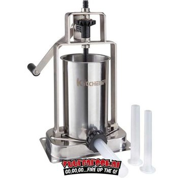Kitchener Kitchener Stainless Steel Sausage Stuffer 2,5 liters
