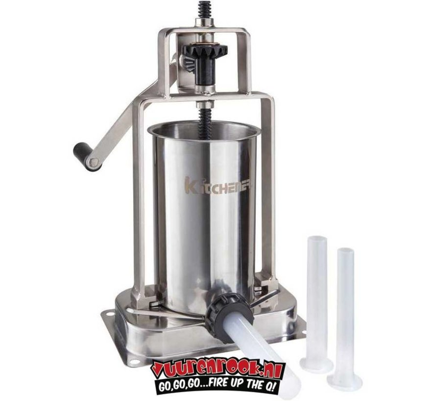 Kitchener Stainless Steel Sausage Stuffer 2,5 liters - Vuur ...