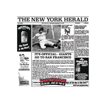 The New York Catering Fat Free Paper Serve Newspaper White 1000 pieces