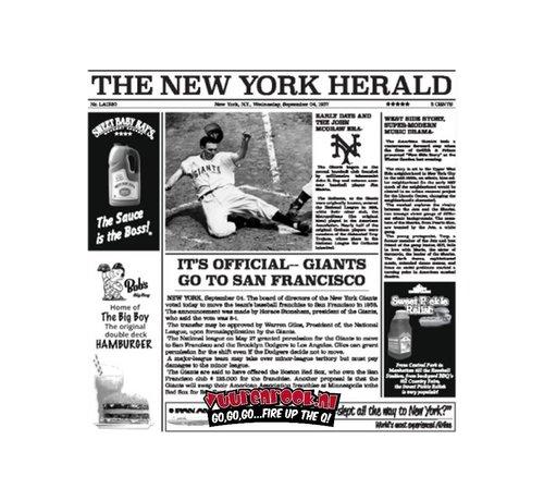 The New York Catering Vet Vrij Papier Serveer Krant Wit 1000 stuks