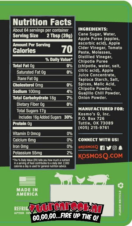 Kosmos Kosmos Sweet Apple Chipotle BBQ Sauce
