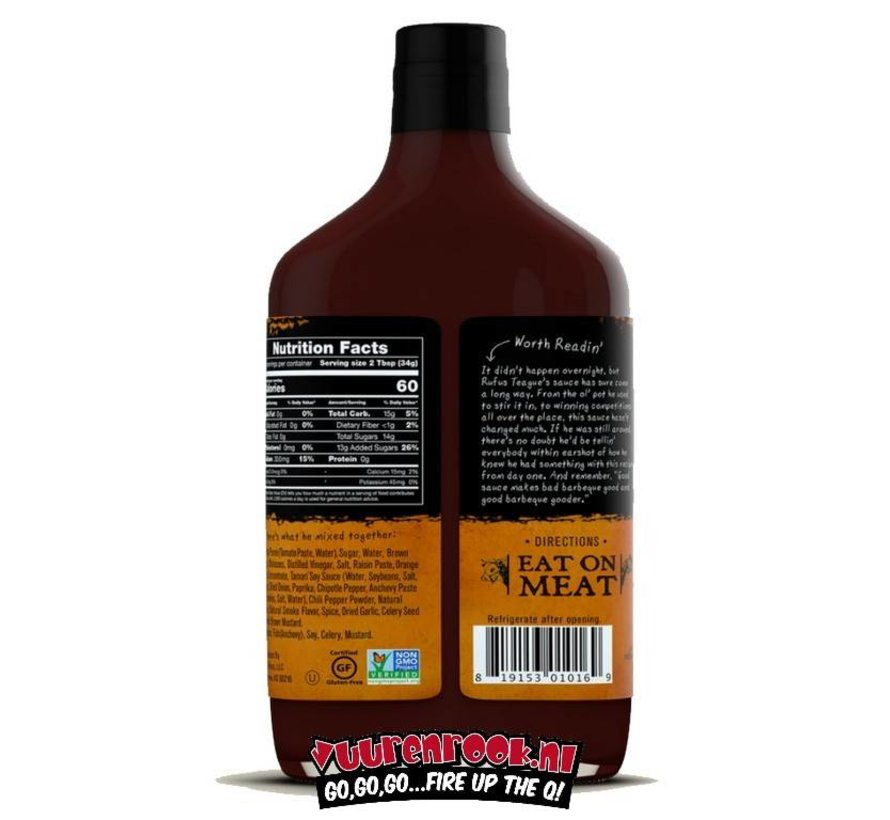 Rufus Teague Touch O' Heat BBQ Sauce 16oz