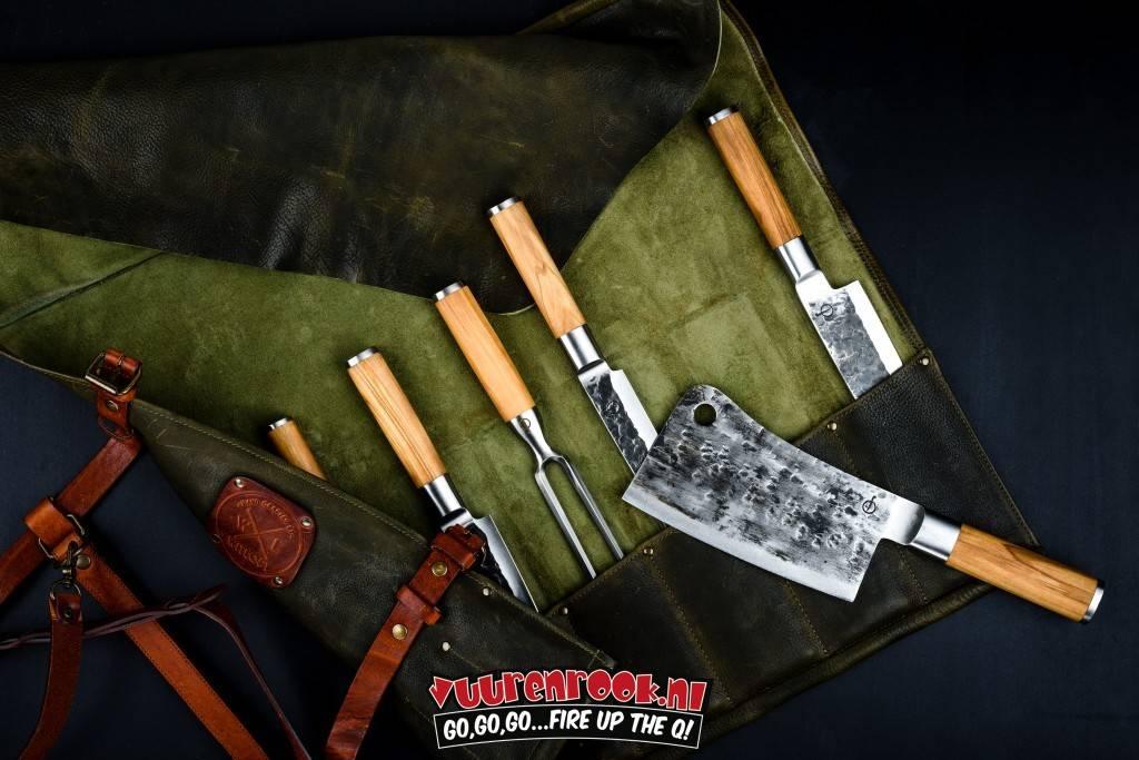 Forged Olive Forged Asiatisches Schneidmesser + Schneidebrett