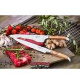 Laguiole Laguiole Chef's Knife Set Olive Wood + Magnetic knife block