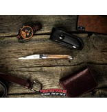 Laguiole Laguiole Pocket Knife Zebrano Wood + Sharpening Steel And Leather Case