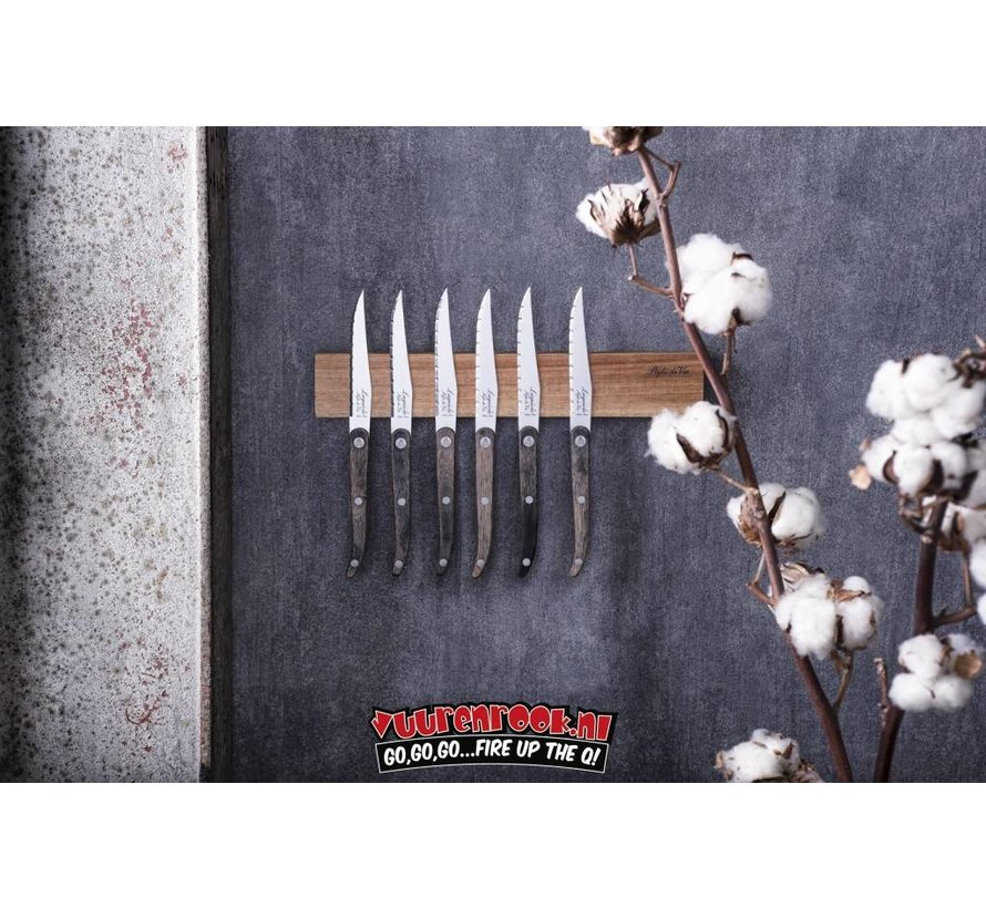 Laguiole Magnetic Knife Rack Acacia 50cm