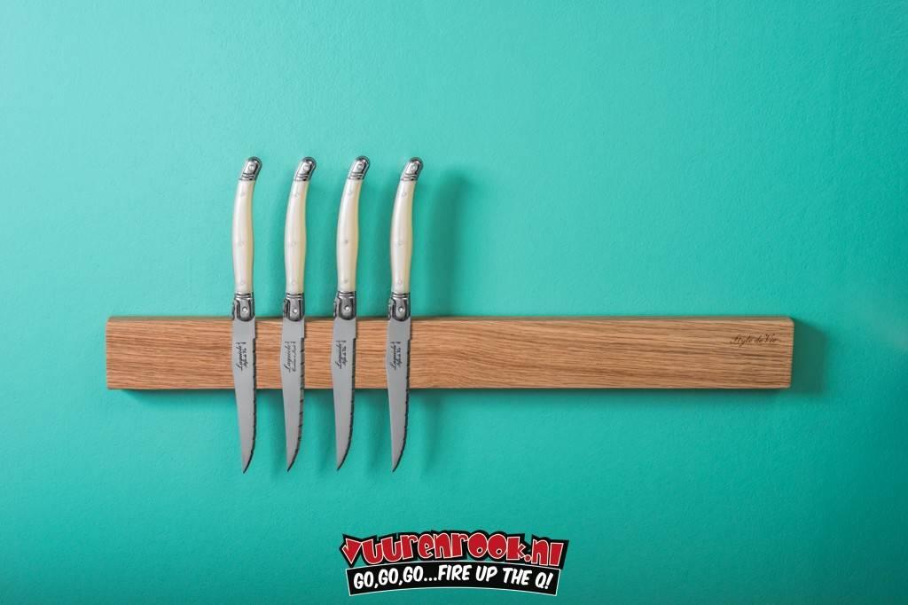 Laguiole Laguiole Magnetic Knife Rack Oak 50cm