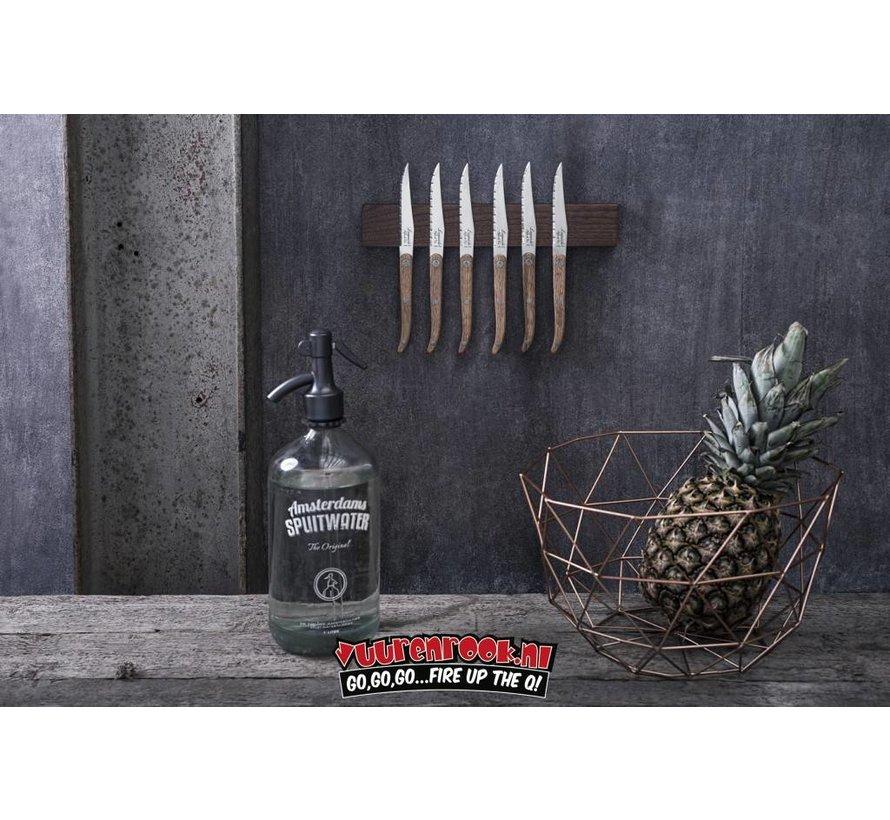 Laguiole Magnetic Knife Rack Walnut 50cm