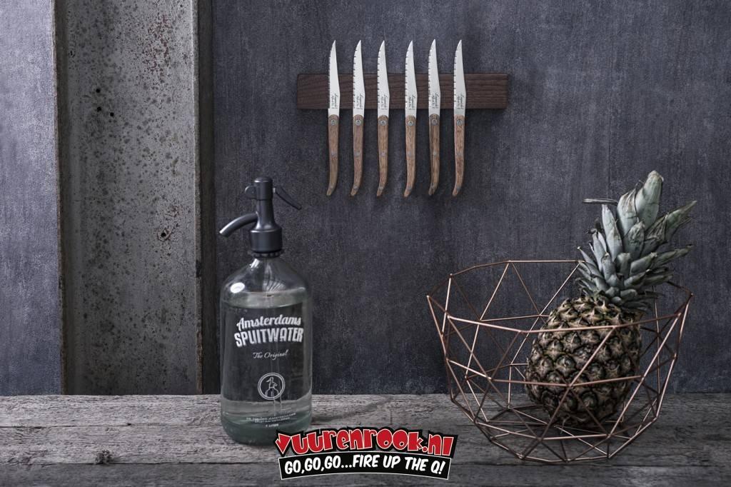 Laguiole Laguiole Magnetic Knife Rack Walnut 50cm