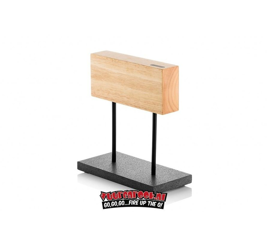 Laguiole Magnetic Knife Block Oak On Natural Stone Foot