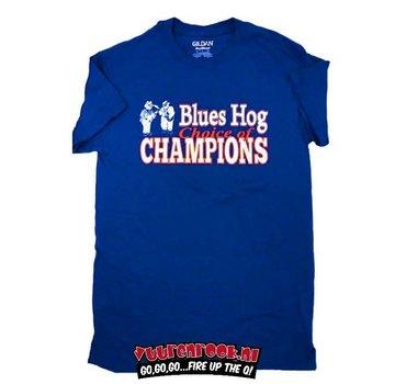 Blues Hog Blues Hog T-Shirt Königsblau Wahl der Champions