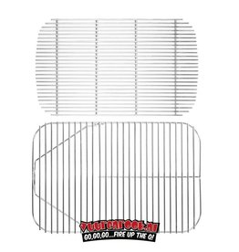 PK Grill Stainless Steel Cooking Grid & Charcoal Grate for Original PK