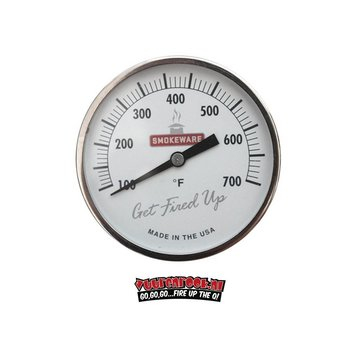 Smokeware Smokeware RVS Thermometer Wit °F 82mm