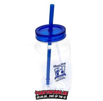 Blues Hog Blues Hog Mason Jar With Lid & Straw
