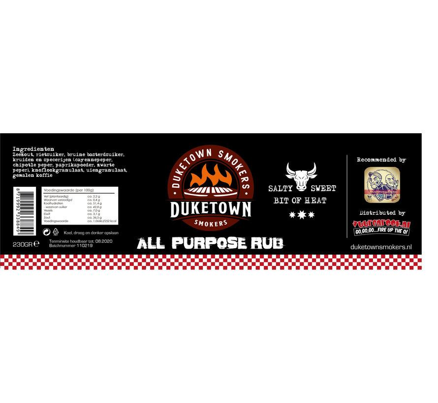 Duketown Smokers All Purpose Rub 230 gram