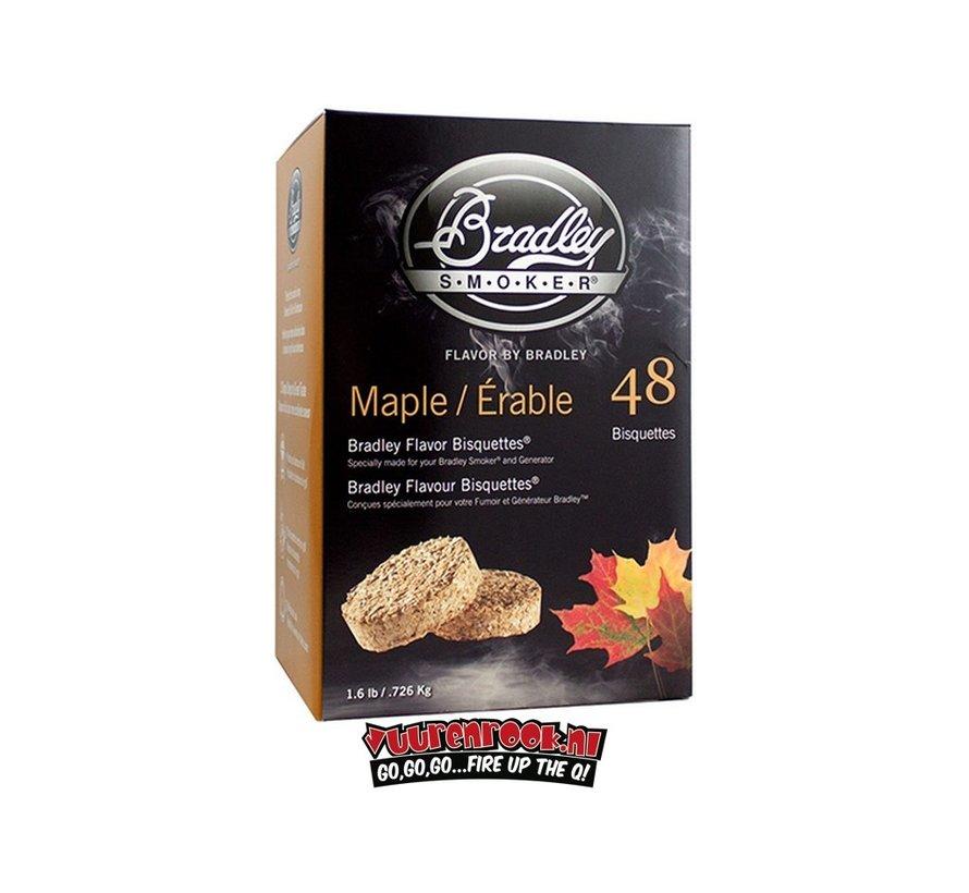 Bradley Smokers Esdoorn Bisquetten 48 st.