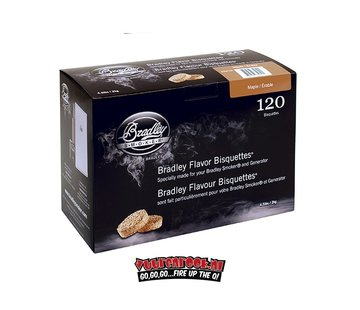 Bradley Smoker Bradley Smokers Esdoorn Bisquetten 120 st.