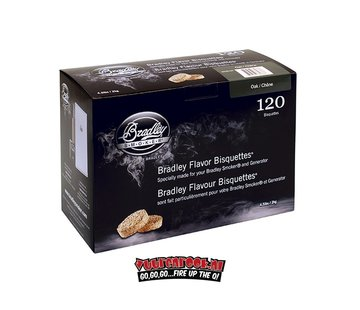 Bradley Smoker Bradley Smokers Eiken Bisquetten 120 st.