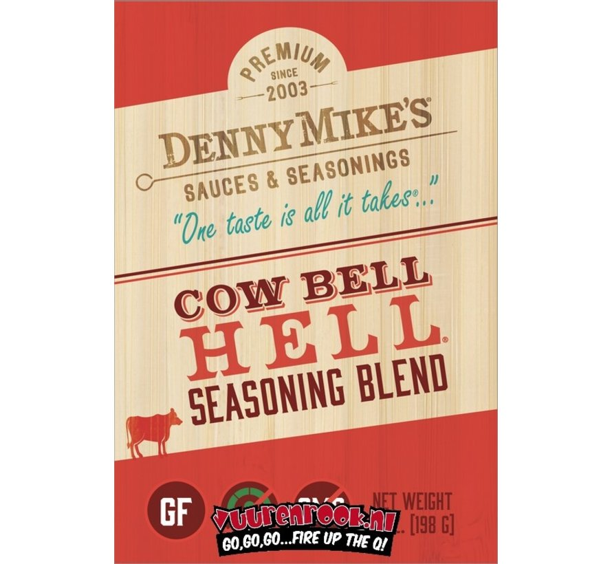 Denny Mike's Cow Bell Hell BBQ Rub 7oz