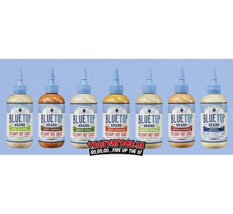 Blue Top Brand Buffalo Cayenne Creamy Hot Sauce 9oz