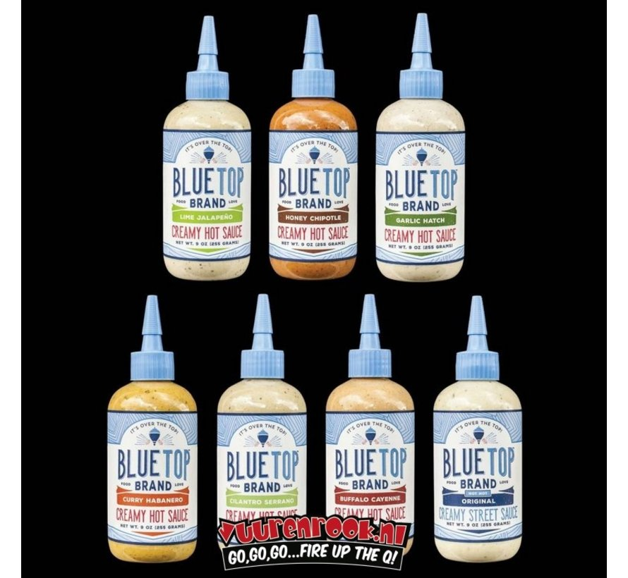 Blue Top Brand Garlic Hatch Creamy Hot Sauce 9oz