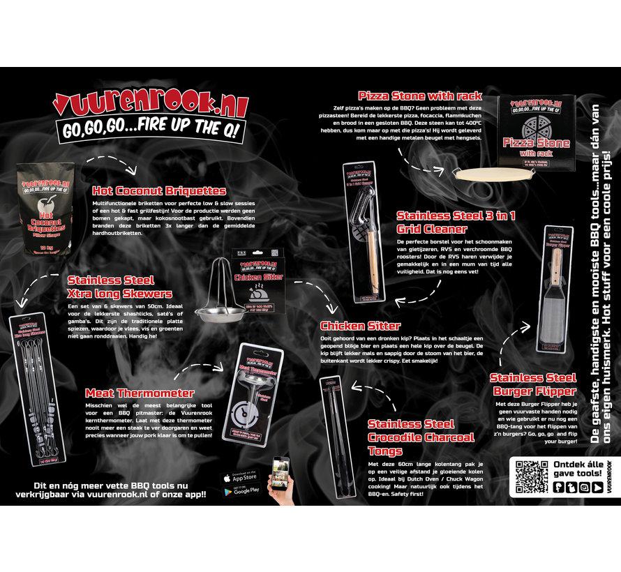Vuur&Rook RVS Xtra Long Skewers 6 stuks