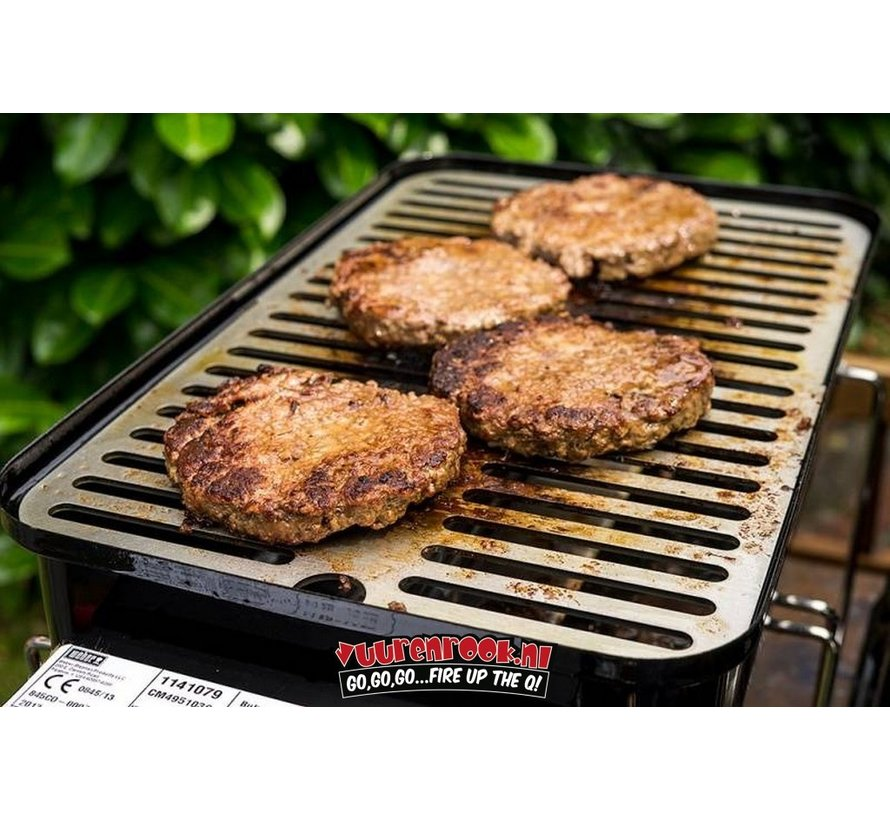 RVS Grillrooster/Plancha tbv Weber Go Anywhere