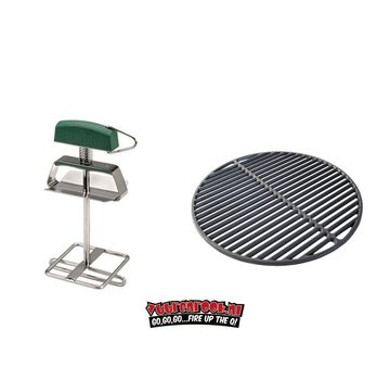 Big Green Egg Big Green Egg Cast Iron Grate + Grid Lifter Large