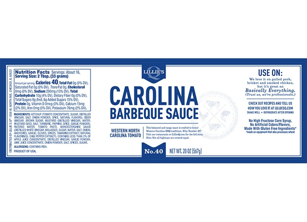 Lillie's Q Lillies Carolina BBQ Sauce