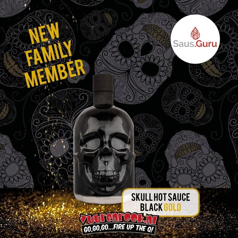 Saus.Guru Sauce.Guru Black Gold Edition Skull