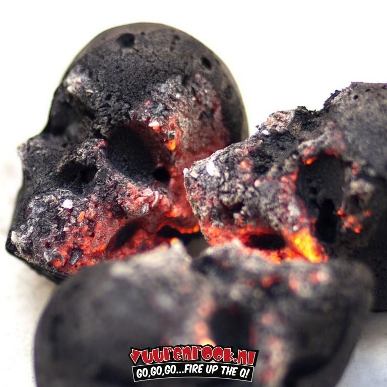 Fomkohlen Skull Briquettes 15 pieces