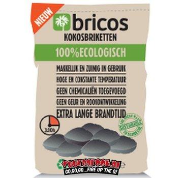 Bricos Bricos Kokosnussbriketts 5 Kilo AA (Pillow Shape)
