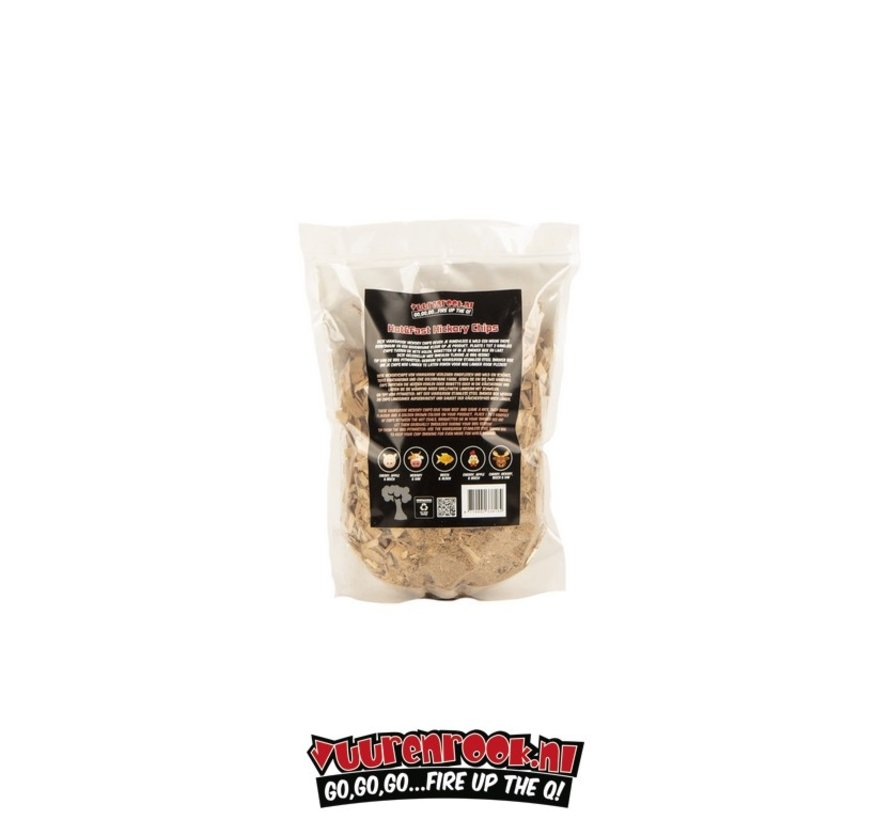 Vuur&Rook Hot&Fast Hickory Chips 1.5 kg