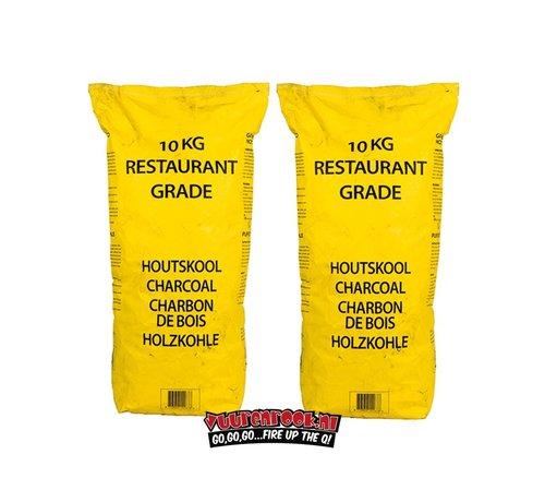 Vuur&Rook Gelbe Tasche Horeca South African Restaurant Grade Lump Charcoal 100% Black Wattle 10 kg Combodeal