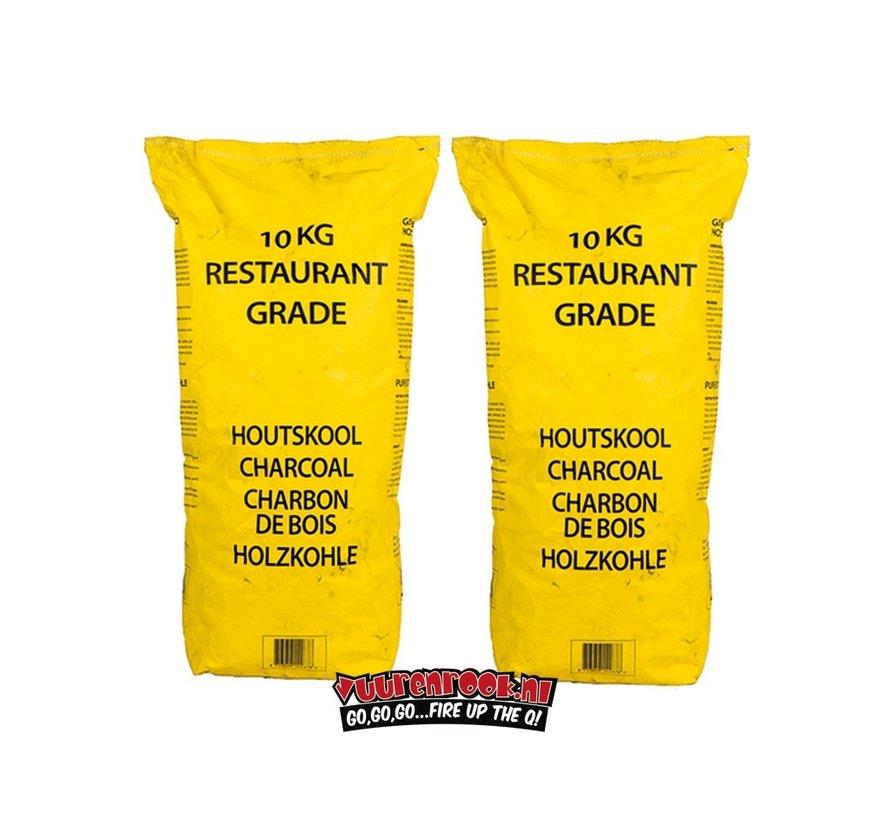 Gelbe Tasche Horeca South African Restaurant Grade Lump Charcoal 100% Black Wattle 10 kg Combodeal