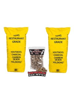 Vuur&Rook Horeca South African Restaurant Grade Lump Charcoal 100% Black Wattle 10 kg Horeca Deal