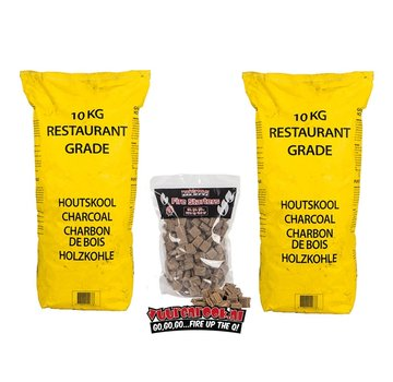 Vuur&Rook Horeca South African Restaurant Grade Lump Charcoal 100% Black Wattle 10 kg Horeca Deal