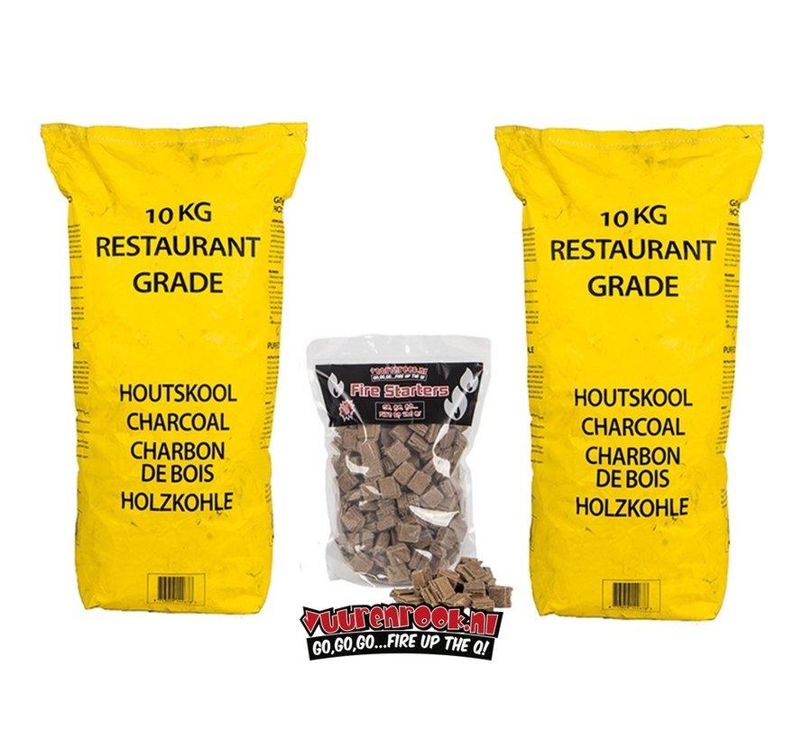 Horeca South African Restaurant Grade Lump Charcoal 100% Black Wattle 10 kg Horeca Deal