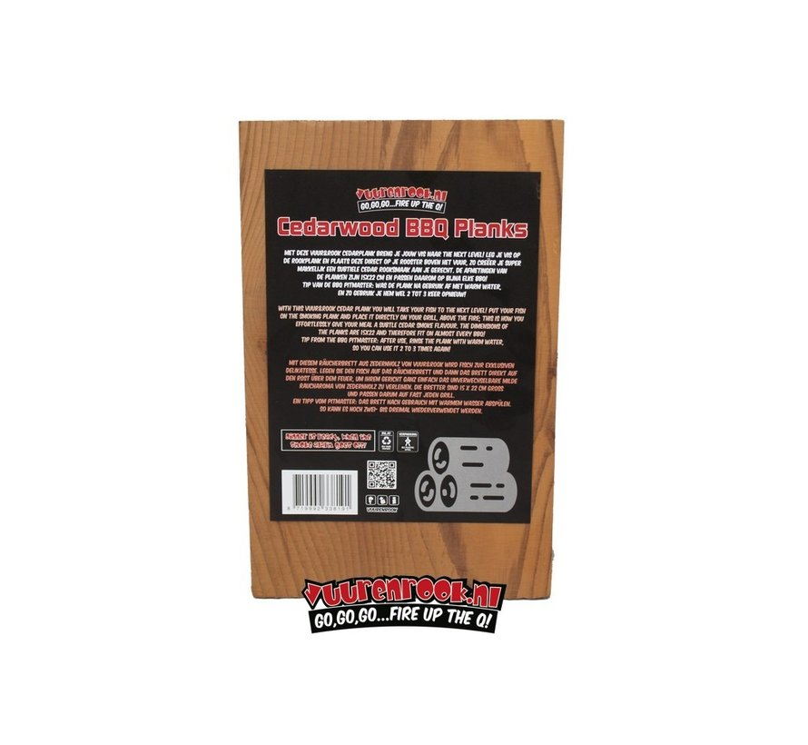 Vuur&Rook Cedar Plank 3 stuks