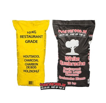Vuur&Rook Horeca South African Restaurant Grade Lump Charcoal 100% Black Wattle 10 kg Vuur&Rook Deal