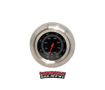 Mustang Mustang Stainless Steel Thermometer 22mm
