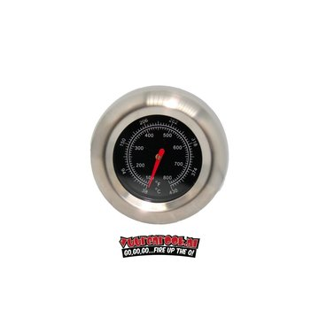 Mustang Mustang RVS Thermometer 22mm