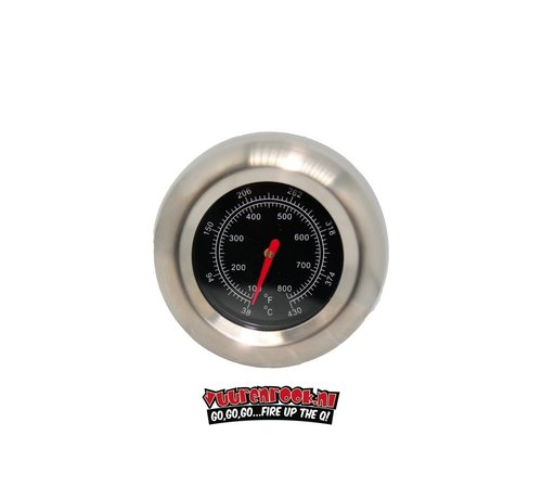 Mustang Mustang Edelstahlthermometer 22mm