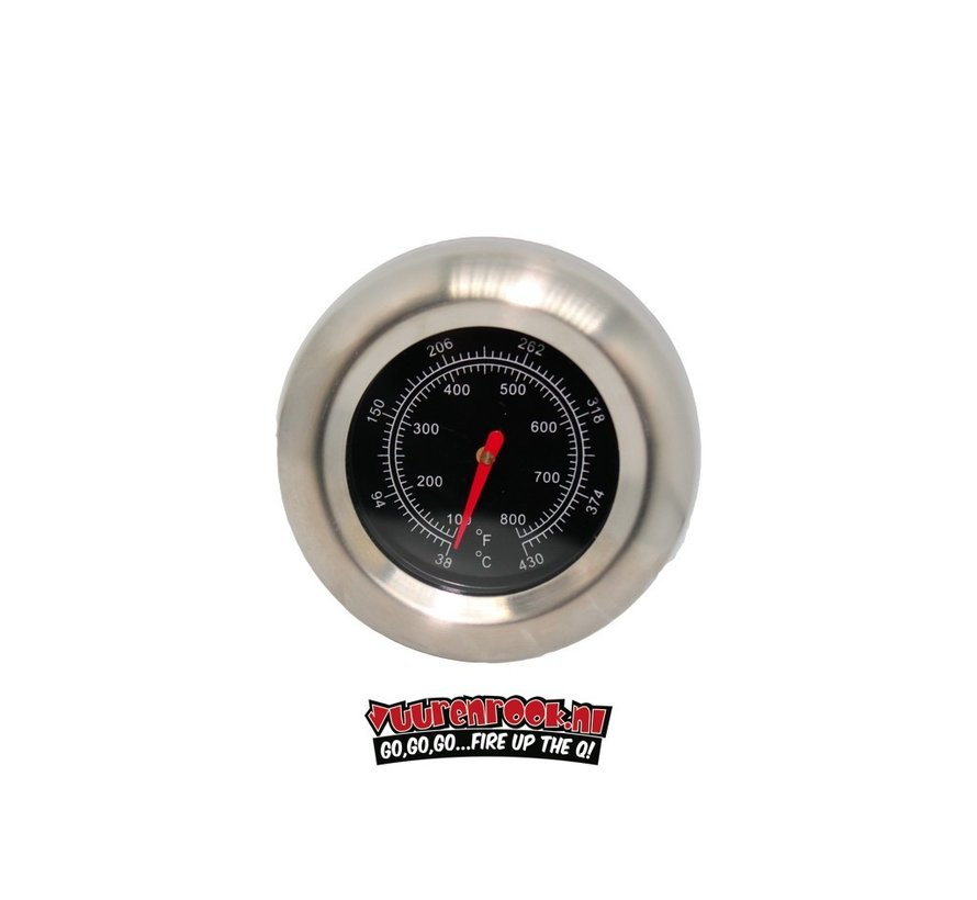 Mustang RVS Thermometer 22mm