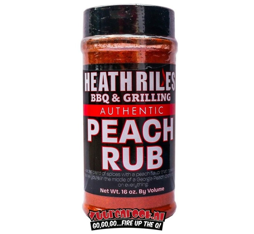 Heath BBQ Riles Peach Rub 16oz
