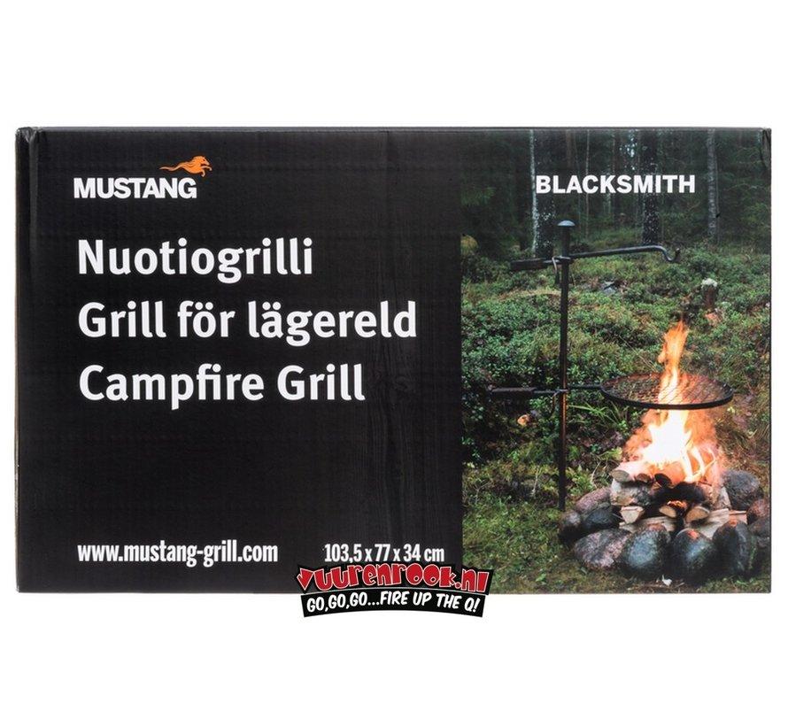 Mustang Kampvuur BBQ Set Staal Smederij Kwaliteit
