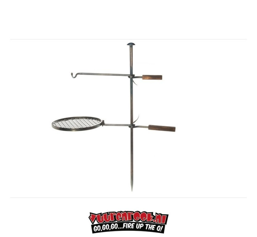 Mustang Campfire BBQ Set Steel Forge Quality