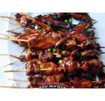 Bacon Bourbon Chicken Kebabs