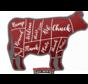 Vuur&Rook Doormat BBQ Cow Shape 80x100cm